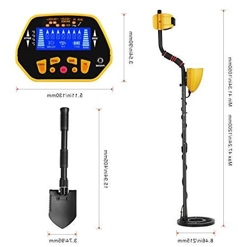 CANWAY Metal Detector Pinpoint Professional Accuracy Kids Adults. Shovel/Pickaxe and