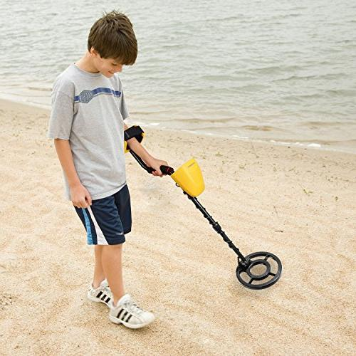 CANWAY Metal Detector with Pinpoint Function, Accuracy Gold Kids and Adults. Detect 3 Deep Plus Shovel/Pickaxe and Bags