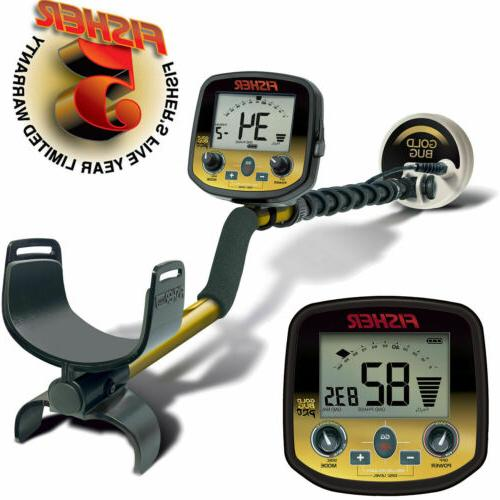 "Fisher Gold Bug Pro Metal Detector with 5"" DD Double-D Coil"