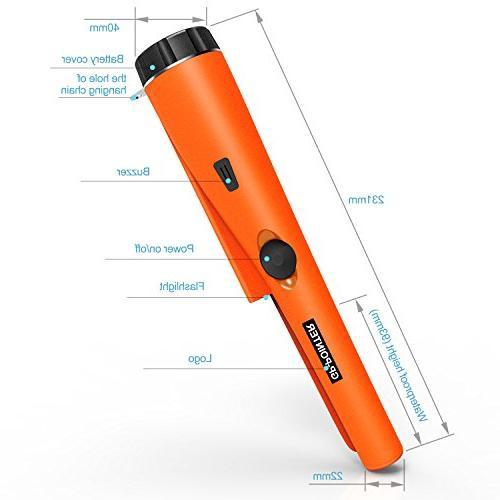 kuman Pin Pointer Detector Kit Multifunctional PVC Waterproof Holster Scanning Hunting Tool