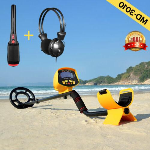 lcd metal detector gold digger hunter deep
