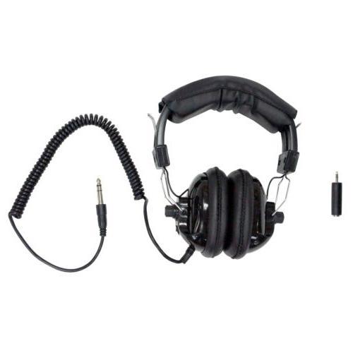 lightweight adjustable stereo headphones for metal detector