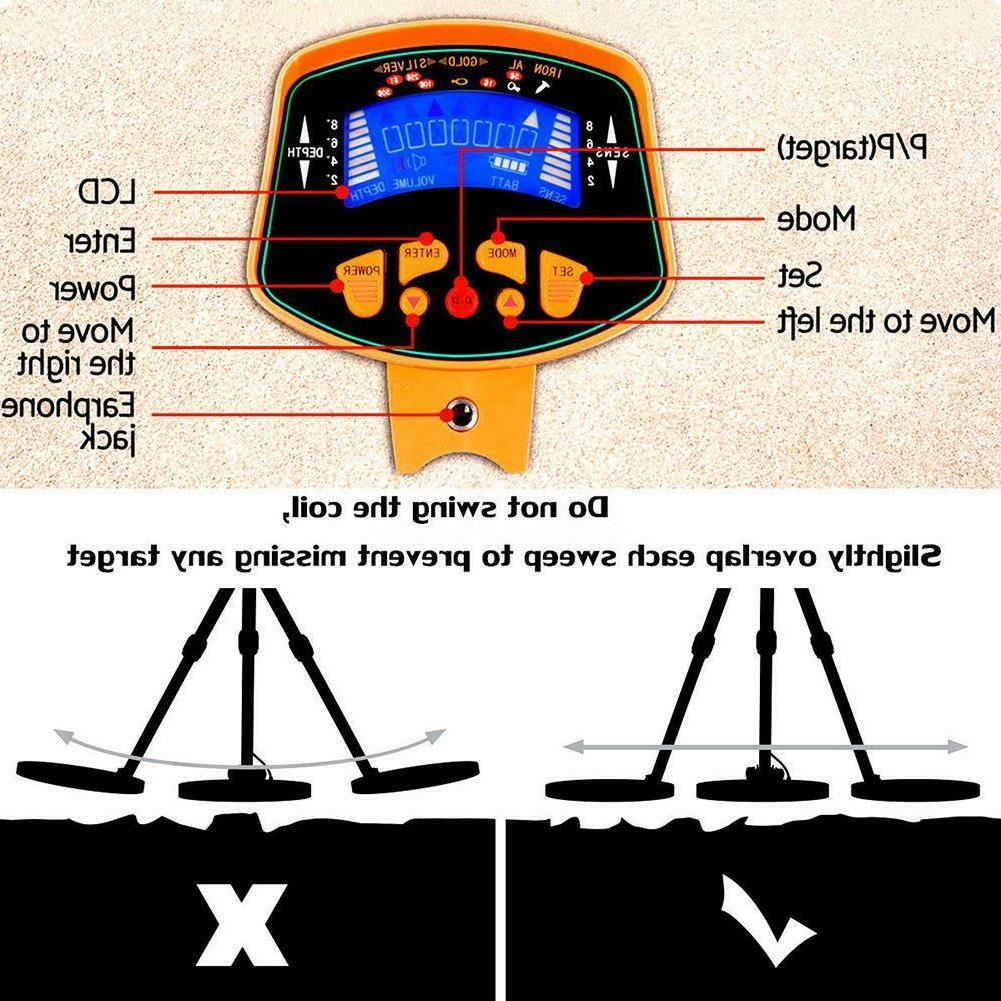 Metal Finder Deep Sensitive Light Hunter LCD TR