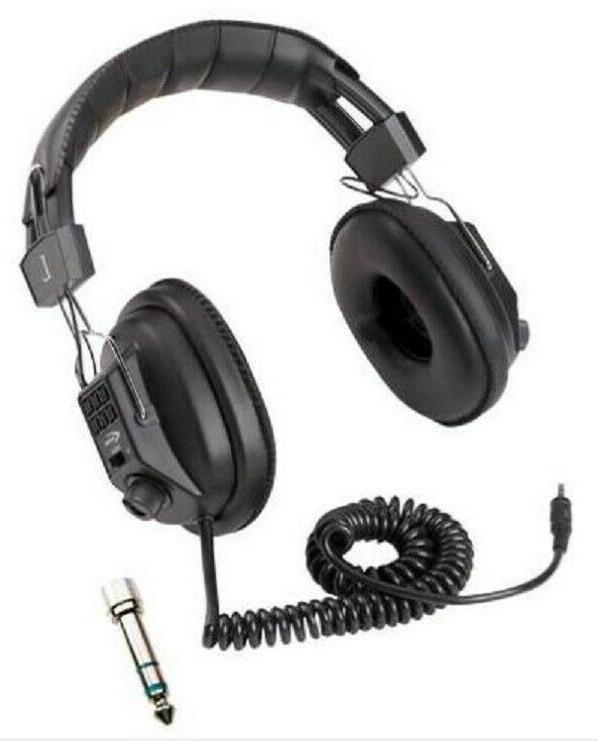 metal detector headphones with volume control garrett