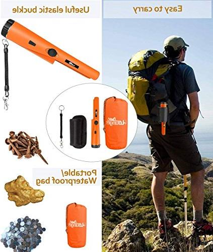 Metal Sensitivity Metal Detector 360° Unearthing One-button Gold Hunter LED Woven Holster & Bag