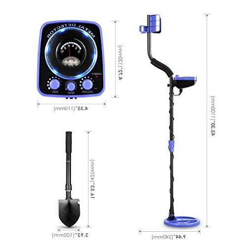 INTEY High Waterproof GC-1065 Metal Detectors Kids Light Mode