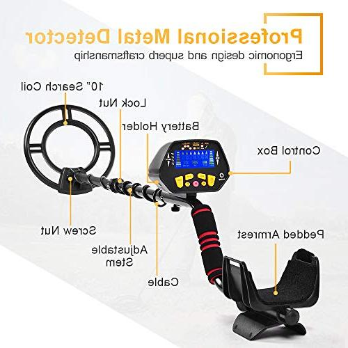 Metal Detector High-Accuracy Metal with Audio Search for Metal Detecting, Metal Detector with P/P