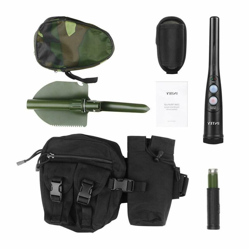 INTEY Metal Detector with a Bag & Foldable Shovel