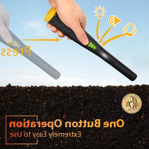 Pinpointer Metal Detector Probe Waterproof Portable Metal Detector with High One-button Pin with Indicator Buzzer with Belt