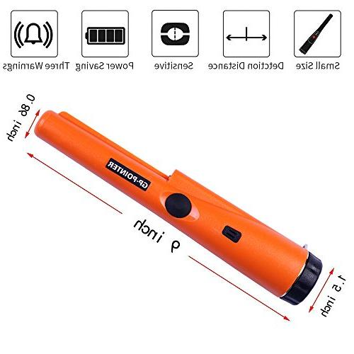 Pinpointing Metal Detector, IP65 Water Hunting with Portable Pin Pointer with and Pinpointer,