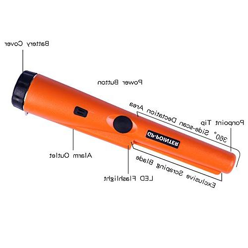 Pinpointing IP65 Treasure with Sound Pointer and Hand-Held Pinpointer,