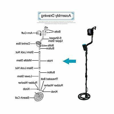 allsun Pro Detector Underground Detection Only Waterproof Fin...