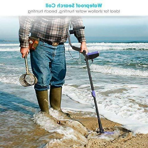Smart Waterproof Metal Detector w MultiFunction Shovel