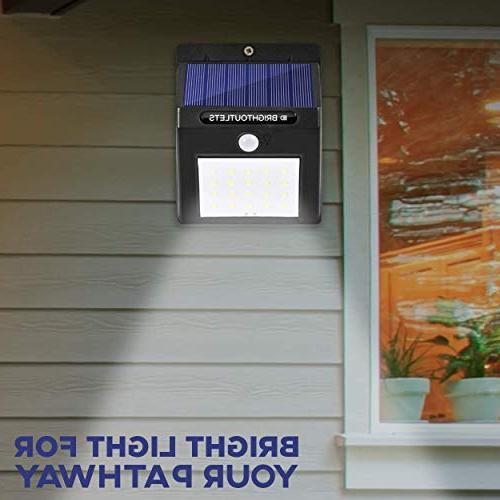 Solar Outdoor, Sensor LED Flood Home Security, Patio, Wall, Garden, Waterproof Dusk