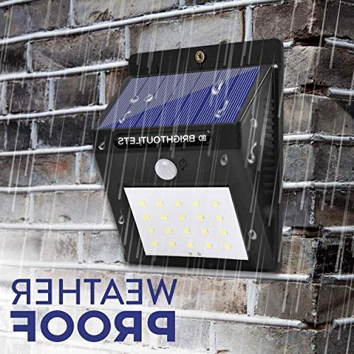 Solar Lights Outdoor, Sensor Light 20 LED Flood Lights Home Security, Garden, Dusk to Dawn Lighting