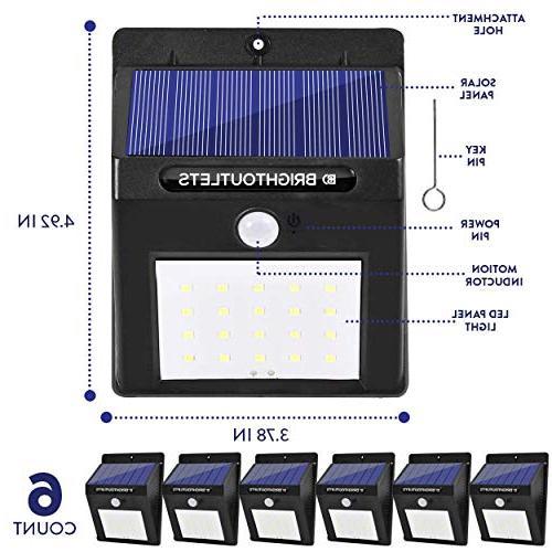 Solar Lights Motion Sensor Light Flood Lights Security, Wall, Pathway, Garden, |Bright Dusk to Lighting