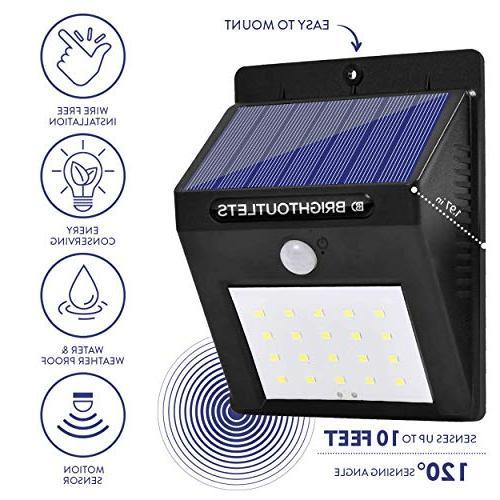 Solar Sensor 20 Flood Lights for Security, Garden, |Bright Dusk