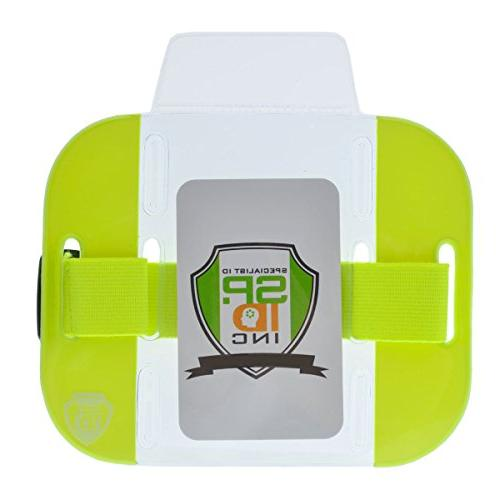 visibility bright armband id badge