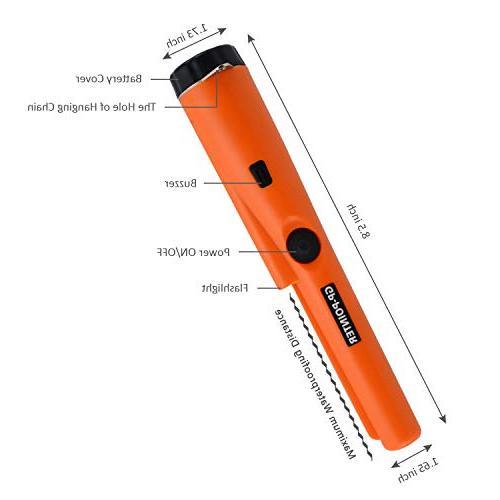 MokenEye Waterproof Metal Detector, Resistant, Handheld with Holster Hunting Vibration