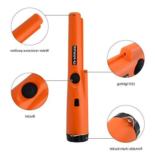 MokenEye Metal Detector, Water Resistant, Detector with Treasure Unearthing Tool Vibration Automatic Tuning