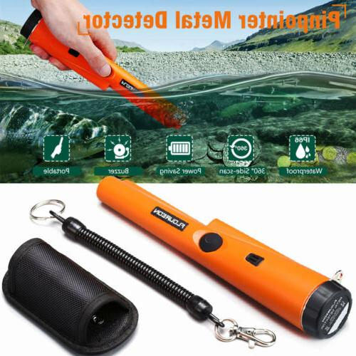 waterproof pinpointer metal detector with led indicator