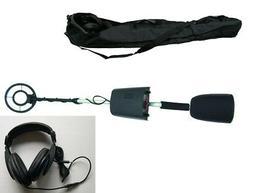 Metal Detector w/ 9V battery Headphone Carry Bag LCD Display