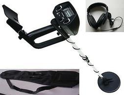 Metal Detector w/ 9V battery Headphone Carry Bag View Meter