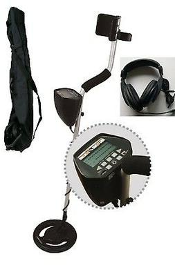Metal Detector w/ 9V battery Headphone Carry Bag LCD Display