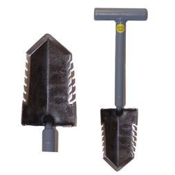 "Lesche Mini Sampson 18"" T-Handle Shovel with Double Serrated"