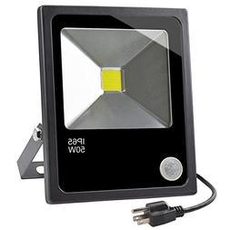 Motion Sensor LED Outdoor Security Flood Light,50W Daylight