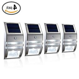 HKYH Motion Sensor Solar Light, Wireless Bright Solar Powere