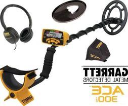 NEW Garrett ACE 300 Metal Detector  Waterproof Coil & Headph