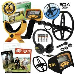 NEW GARRETT ACE 400 Metal Detector with Iron Audio, Freq Adj