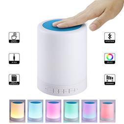 Ximfor Night lights Bluetooth Speaker,Portable Wireless Mult