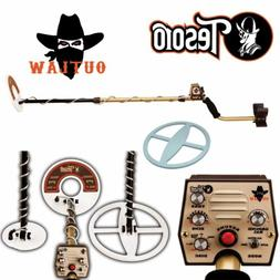 Tesoro Outlaw Metal Detector with 3 Search Coil Bundle