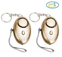 2 PC Personal Alarm,130DB Emergency Self-Defense Security Al