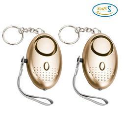2 PC Personal Alarm,130DB Emergency Self-Defense Security Al