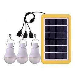 Aolvo 3 Pack 110Lm Portable Solar Light Bulb, USB Rechargeab