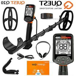 Quest Q20 Metal Detector with 9.5x5 TurboD Waterproof Search