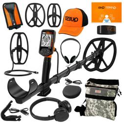 Quest Q40 Metal Detector+ Pack w/ 2 Coils, Hat, Wireless HP