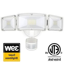 39W LED Security Lights Motion Outdoor 3000 Lumen 5000K BBOU