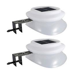 Outdoor Solar Gutter Light, Wireless 9 LED 100LM 6500K White