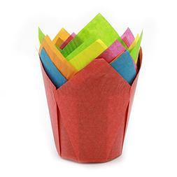 Multi Color Tulip Baking Cups, Mini Size, Pack of 500