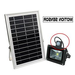 HUANLEMAI Upgraded Solar Lights Outdoor with Motion Sensor D