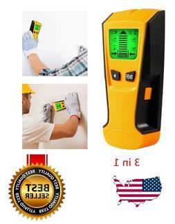 US 3in1 LCD Stud Wood Wall Center Finder Scanner Metal AC Li