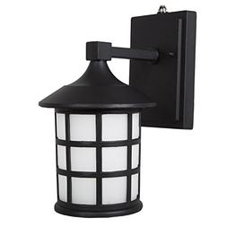 Maxxima LED Outdoor Wall Light, Black Metal Cage w/Frosted G