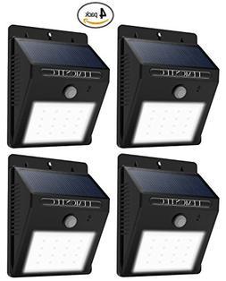 Solar Lights, Lemontec Garden Waterproof Wireless Security B