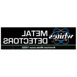 White's Electronics Metal Detector Bumper Sticker 3 x 10 Inc