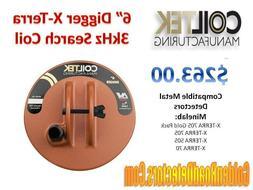 "CoilTek X-Terra 6"" Digger Coil For Minelab X-Terra Series Me"